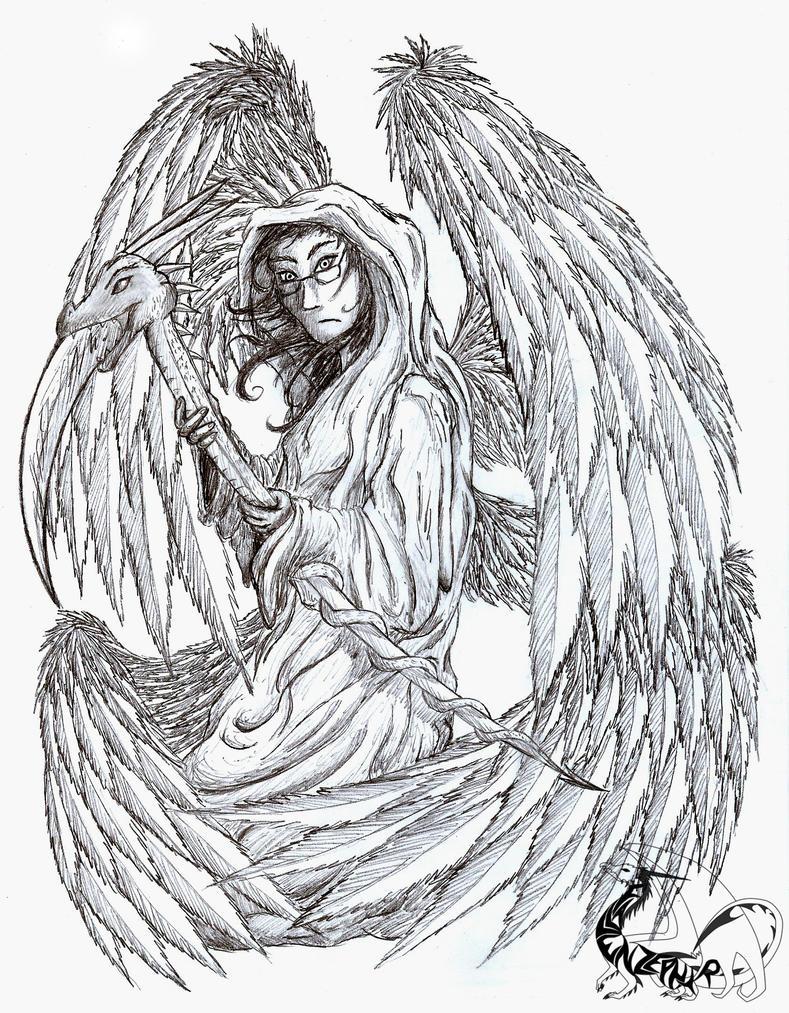 Dead Angels Drawings Fallen Angel of Death Drawing