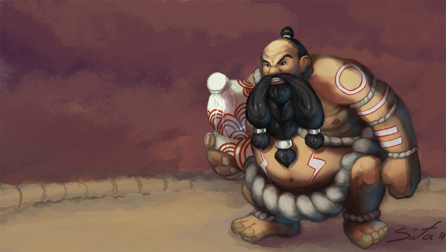 Sumo Gragas  League of Legends by Sitaart