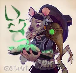 Ratman Portrait Small by Sitaart