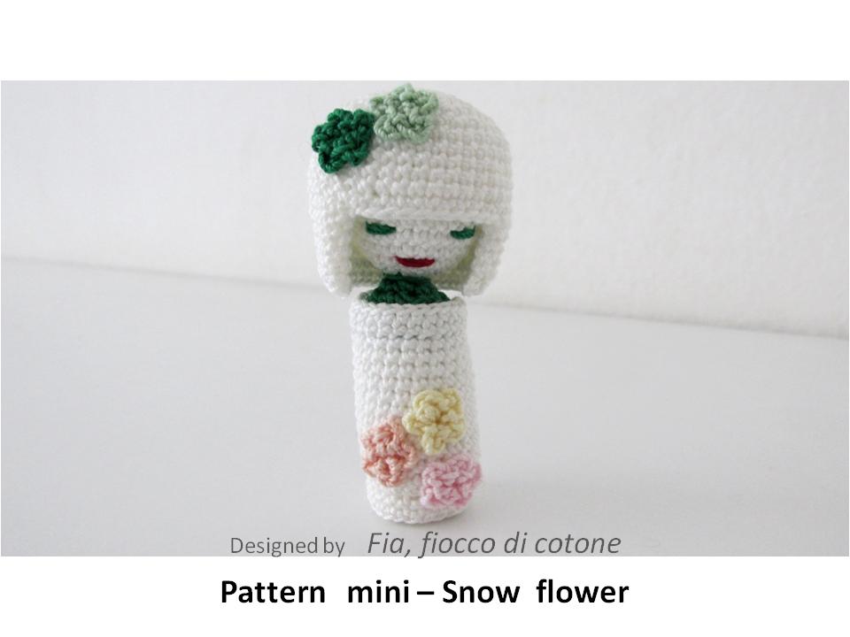 Mini Amigurumi Doll Pattern : pattern mini - Snowflower, kokeshi doll amigurumi by ...