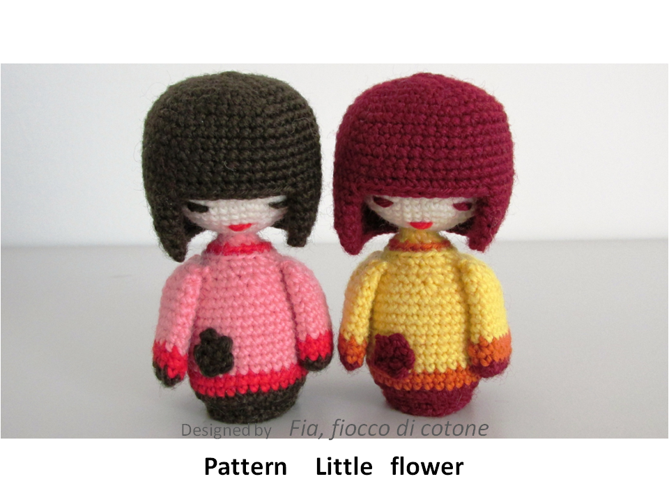 Little Flower, kokeshi doll amigurumi by cottonflake on ...