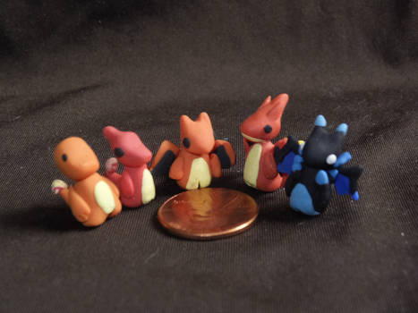 Mini Pokemon #4,5,6, and Mega Charxard YX