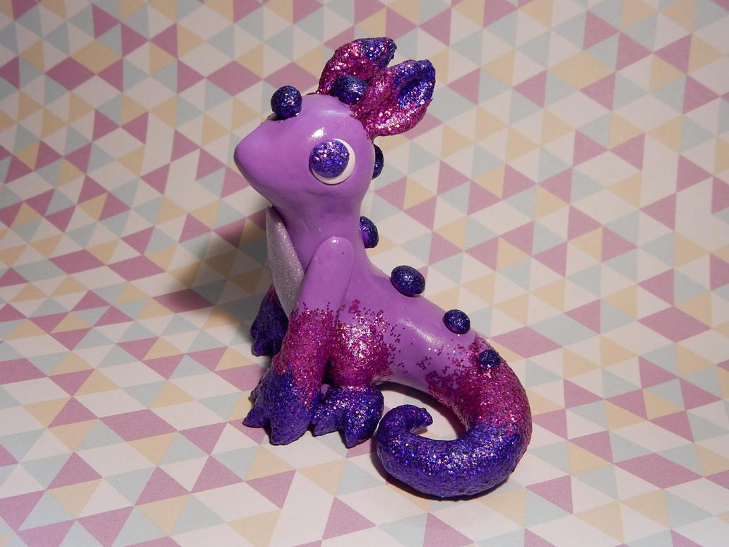 Purple Glitter Dragon by Snowifer