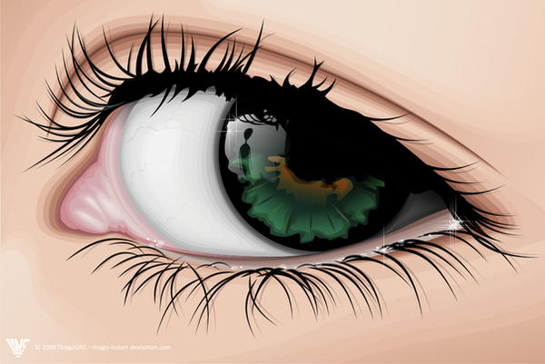 looking eye vector