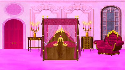 Pink Princess Bedroom By Clipartcotttage ...