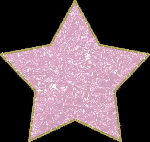 Gold Glitter Star Cake Topper