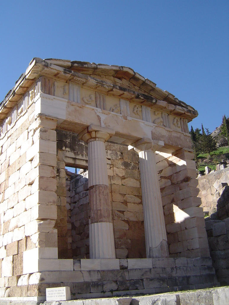 Treasury of the Athenians at Delphi by clipartcotttage on ...