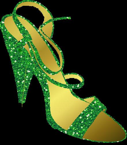 Green High Heel Shoes