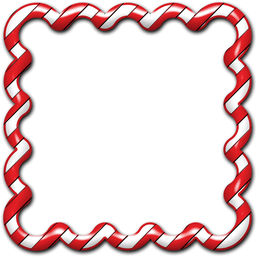 Candy Cane Frame 01 by clipartcotttage on DeviantArt