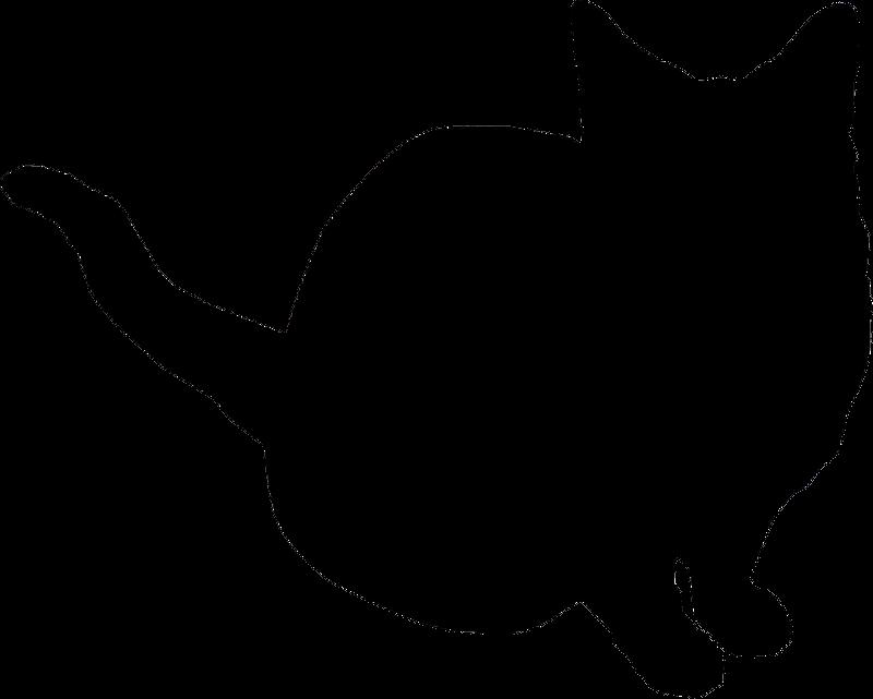 Cat Outline White