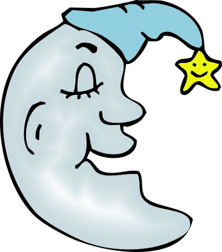 Man In The Moon Blue Png Clipart