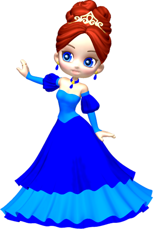 Princess in Blue Poser PNG Clipart (9) by clipartcotttage ...