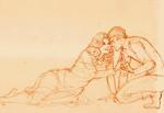 Sarek and Amanda share a kiss