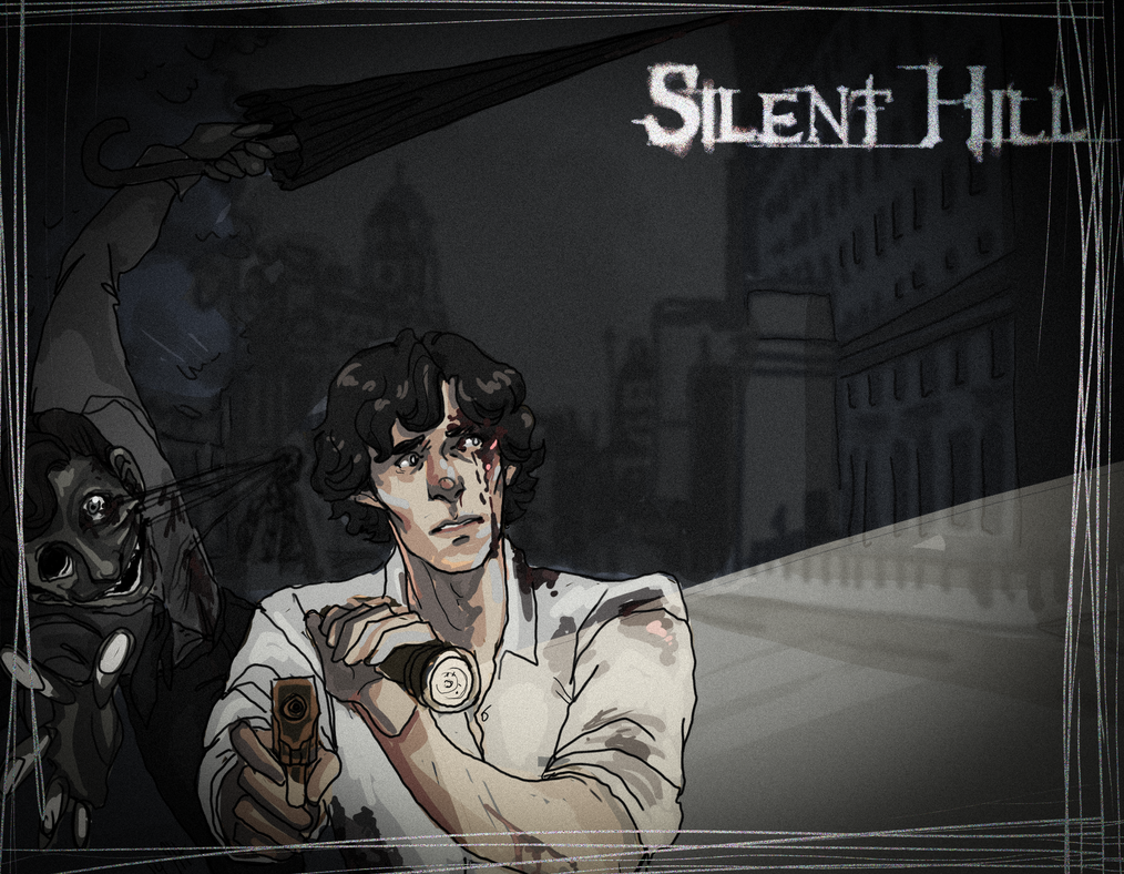 Sherlock in Silent Hill by Kyuketsuki-Vain