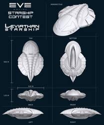 Leviathan Starship by rubenz87