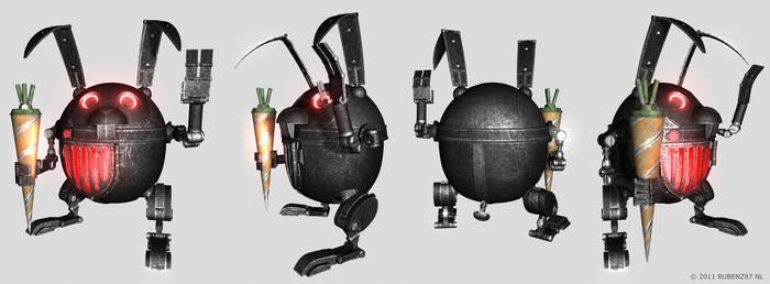 Evil Easter Bunny 3D Renders