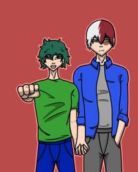 Deku and Todoroki by ShazelFable