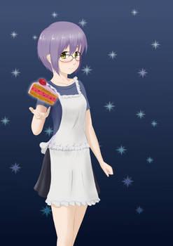 Yuki with cake