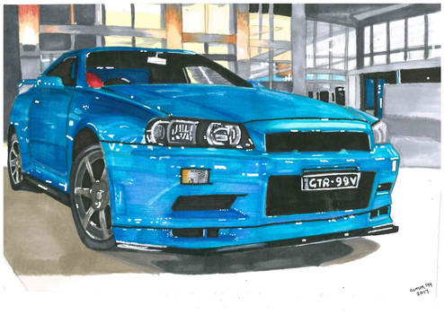 Blue GTR