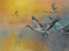 Cranes by longest13