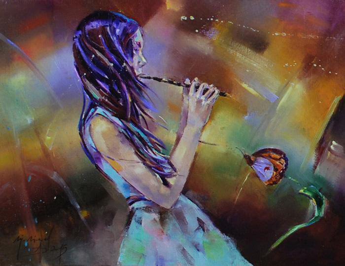 Singing butterfly by longest13