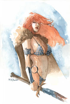 Red Sonja Water Colours II