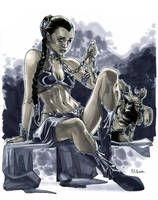 Slave Leia by MahmudAsrar