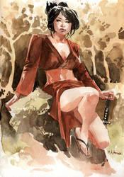 The Vermillion Geisha by MahmudAsrar