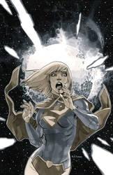 Supergirl 3 Cover BW by MahmudAsrar