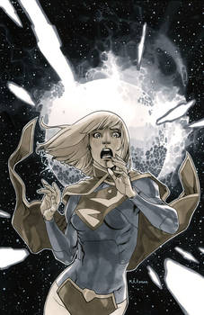 Supergirl 3 Cover BW