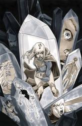 Supergirl 4 Cover BW by MahmudAsrar