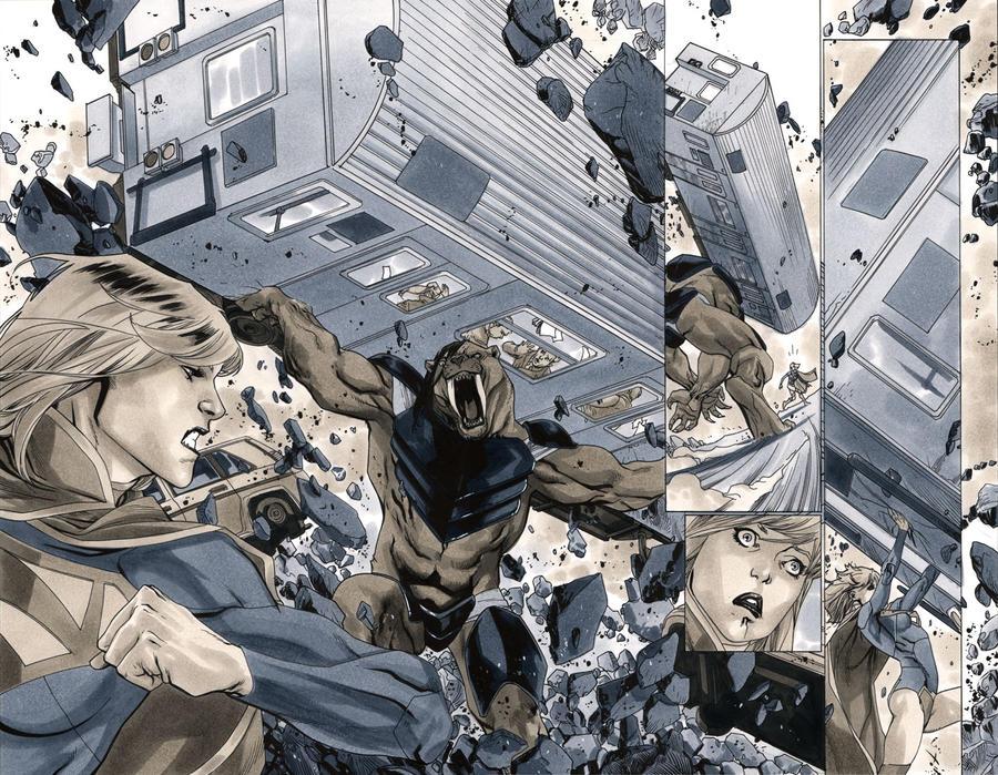 Supergirl 7 Pages 14-15 by MahmudAsrar