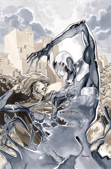 Supergirl 11 Cover BW