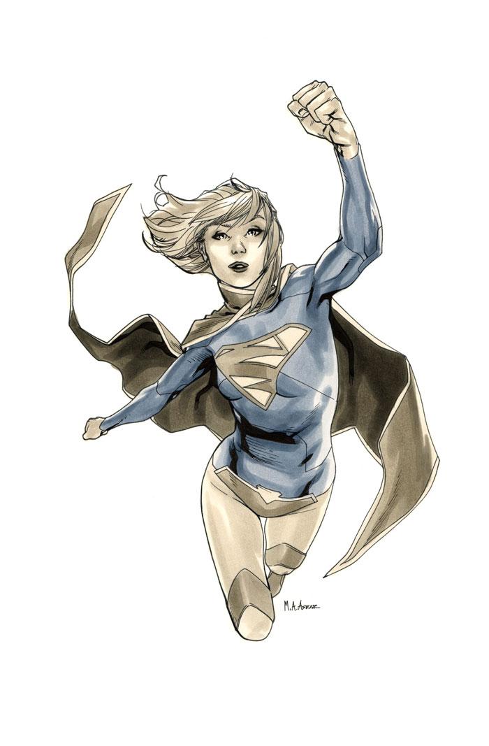 Supergirl 0 Cover BW by MahmudAsrar