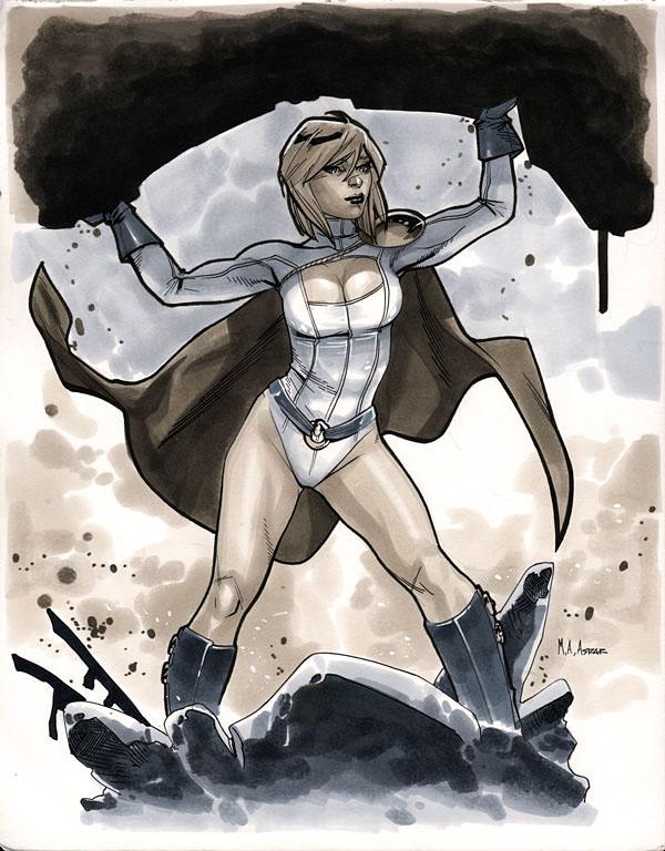 Power Girl - Comic Con Paris 2012 by MahmudAsrar