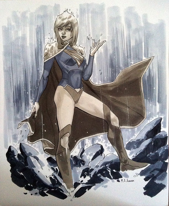 Supergirl II - Comic Con Paris 2012 by MahmudAsrar