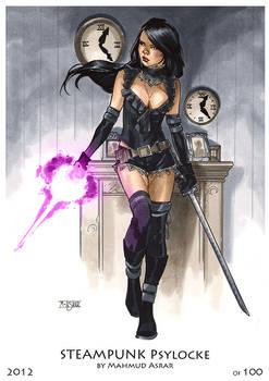 Steampunk Psylocke Print
