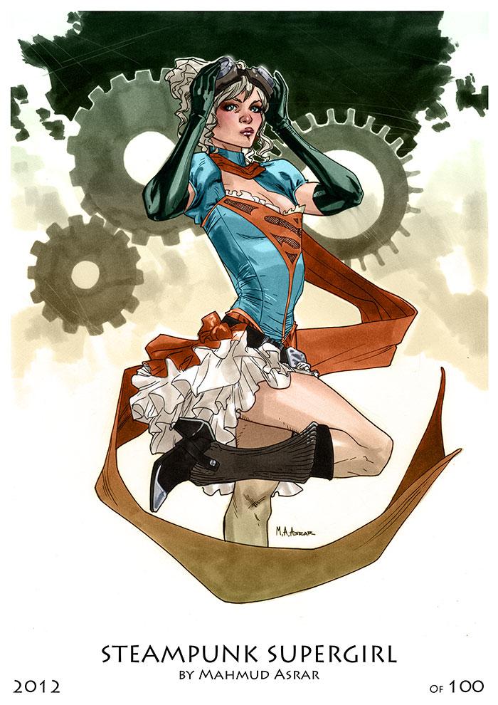 Steampunk Supergirl Print by MahmudAsrar