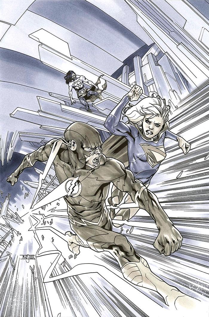 Supergirl 16 Cover BW by MahmudAsrar