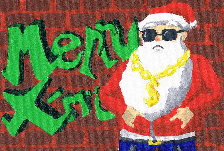 Gangsta Santa Christmas Card 1 by Haiomi on DeviantArt