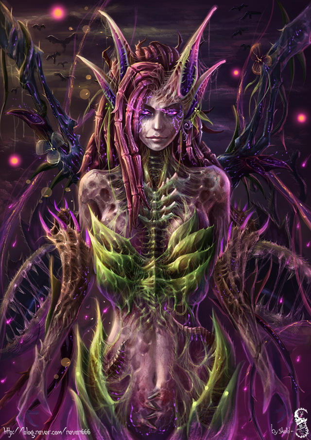 LOL Queen of Blades Zyra by GothmarySkold