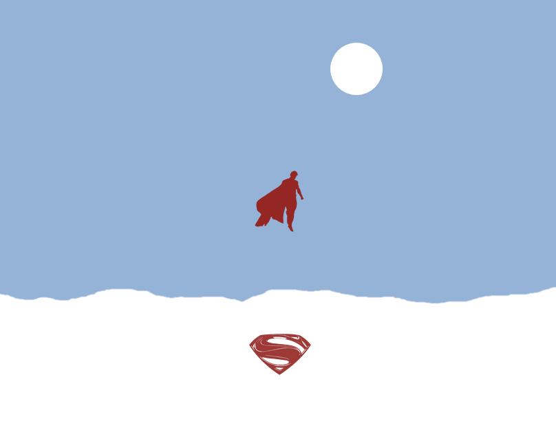 Man of steel minimalist wallpaper by trollraptor on deviantart for Deviantart minimal wallpaper