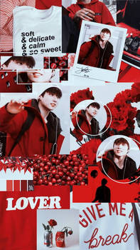 wallpaper  bts jungkook red aesthetic wallpaper  by jcydric dditbd6