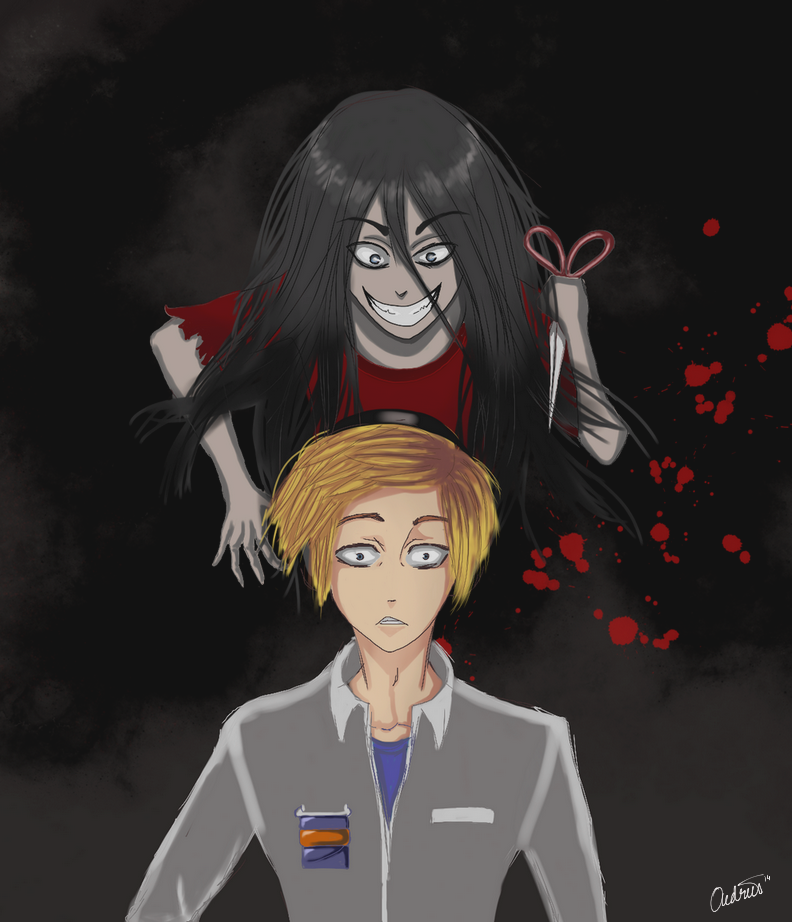 Corpse Party: Sachiko vs Pewds by hannie001