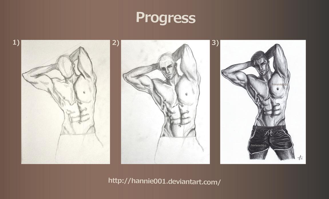 Progress: Torso by hannie001