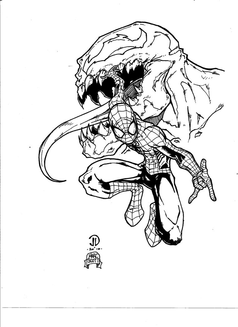 Spiderman 3 Drawings Venom Drawing Spiderman