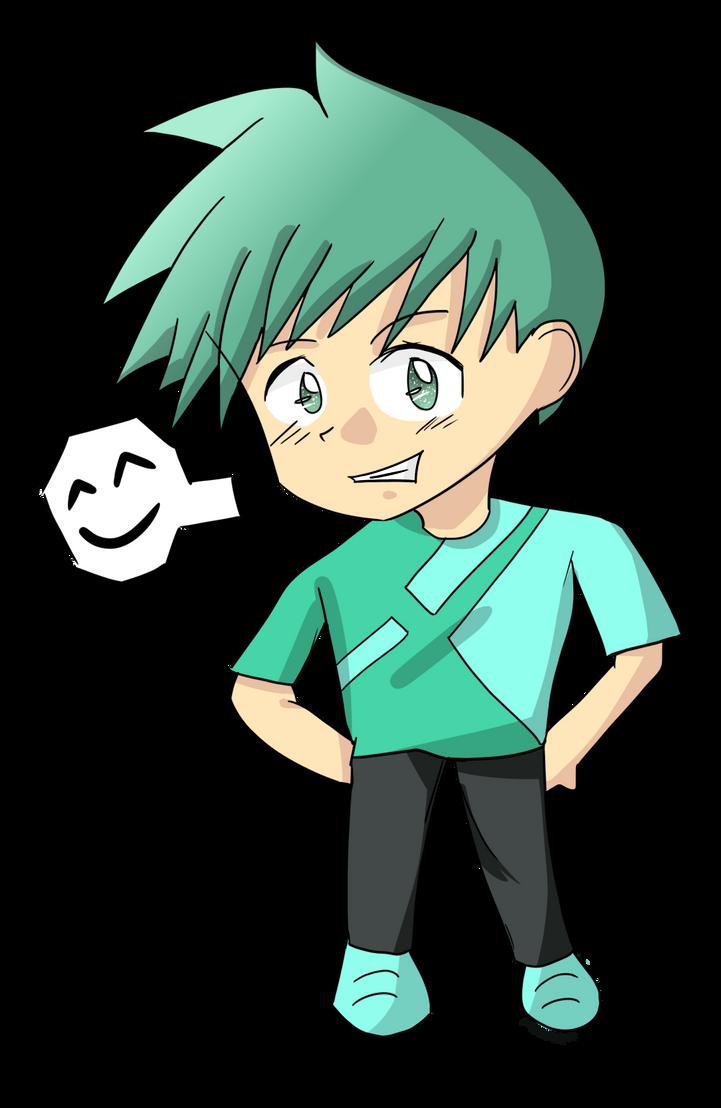 Green Smile Chibi by MeteorKouki on deviantART