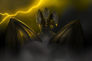 King Ghidorah - King Of The Monsters by Solaphea
