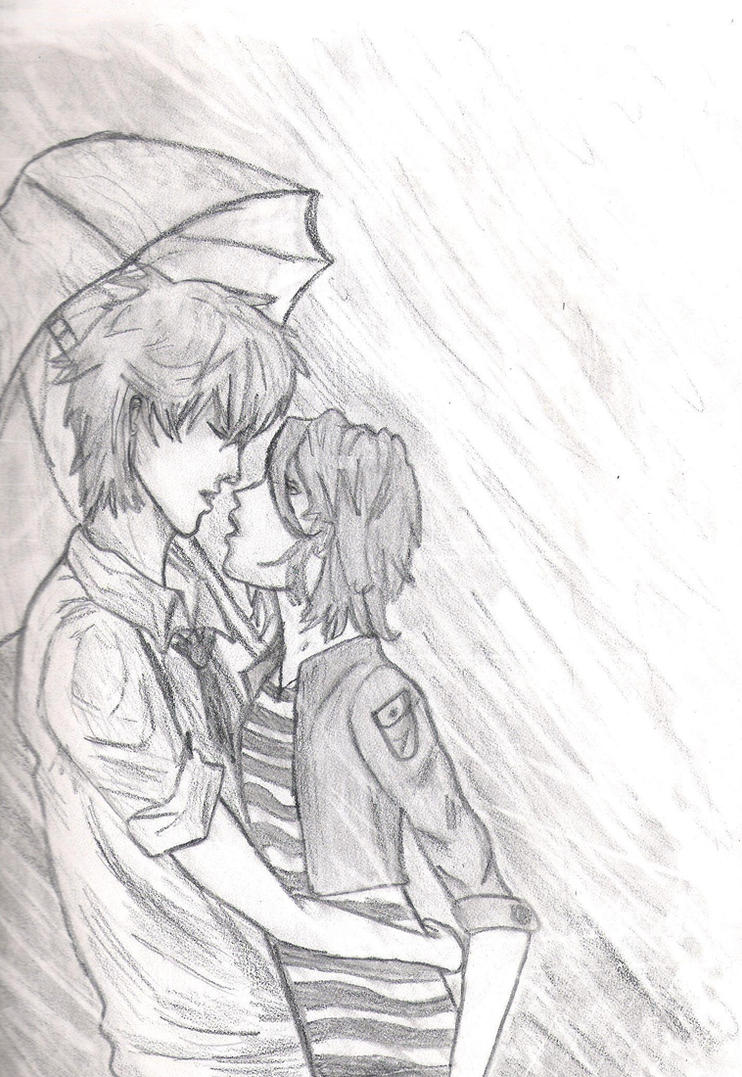 Kiss in the Rain by Parisgirl94 on DeviantArt