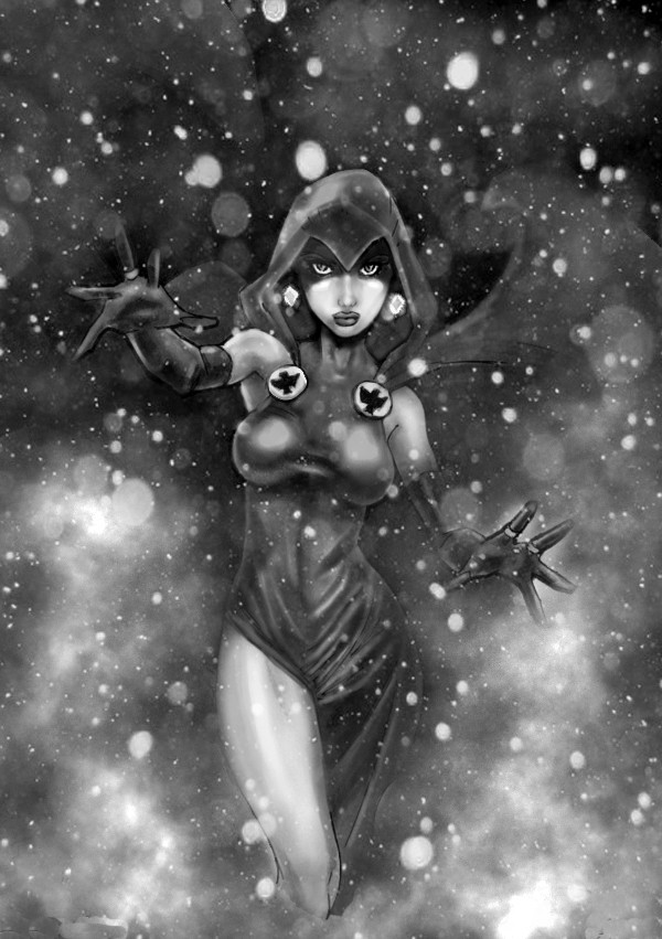 Raven Geryscale by HrnArt